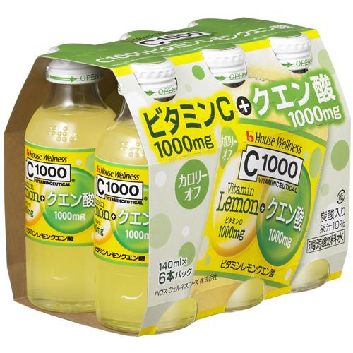 C1000 ビタミンレモン クエン酸 140ml×6本