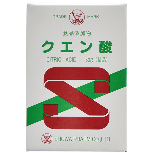 昭和製薬 食品添加物 クエン酸(結晶) 50g
