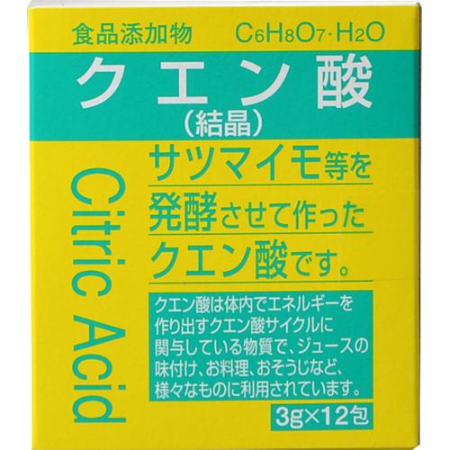 食品添加物 クエン酸 分包 3g×12包
